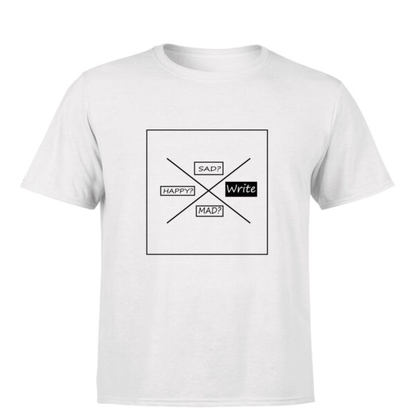 writer's tshirt : emotional therphy