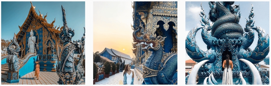 Blue-temple-Thailand, instagrammable places in thailand