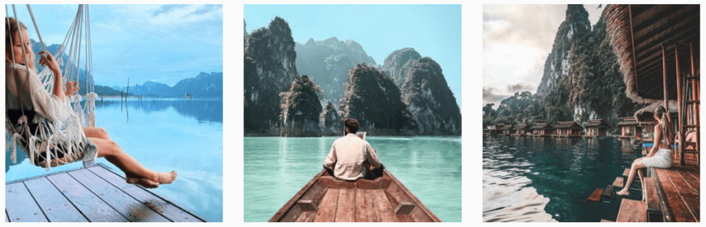 Lake cheow Lan Khao Sok, Thailand , instagramable locations in thailand